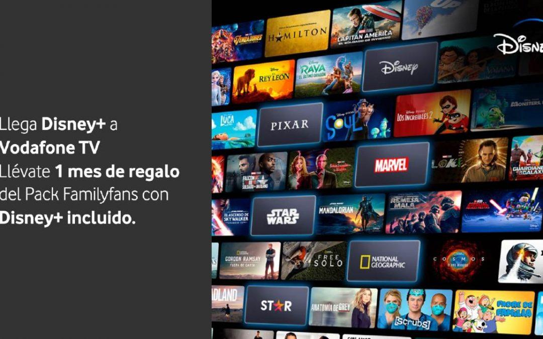 Disney+ llega a Vodafone: gratis con algunas tarifas y en nuevos packs de TV