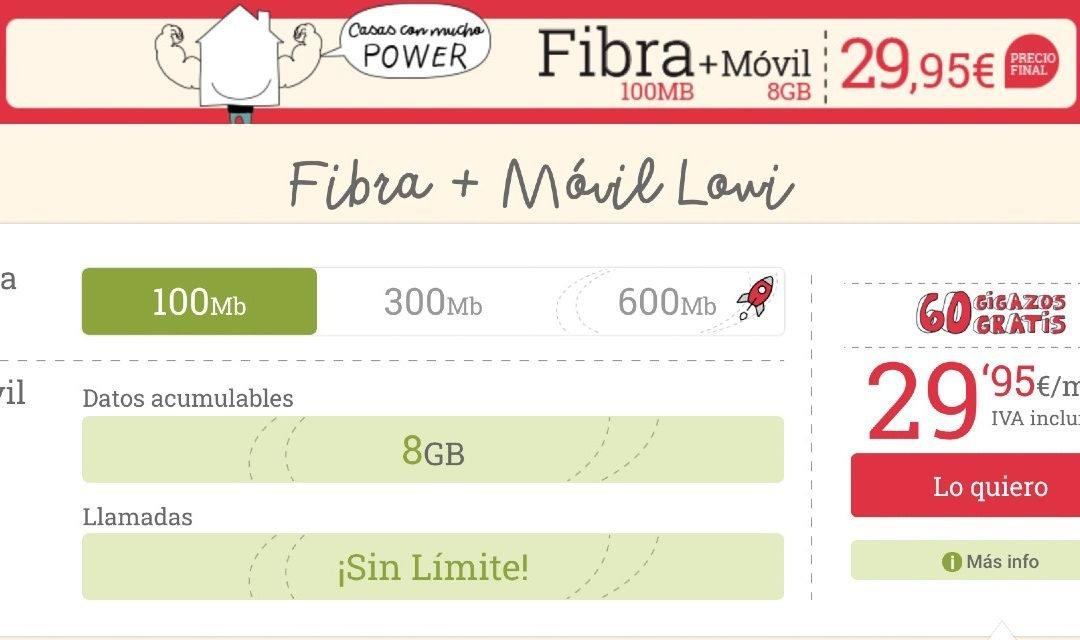 Lowi estrena packs de fibra y móvil desde 29,95 euros al mes