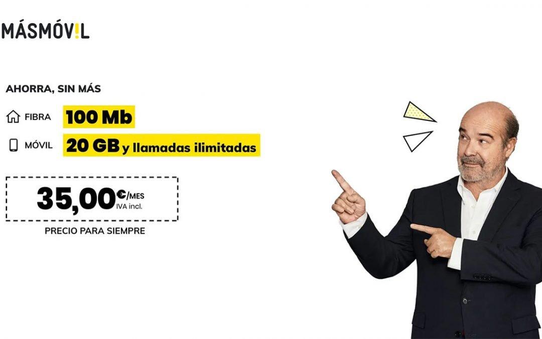 MásMóvil rebaja hasta los 35 euros el listón para acceder a sus packs de fibra y móvil