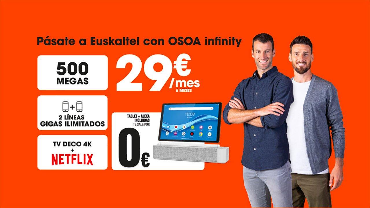 Oferta Euskaltel tablet gratis agosto 2021