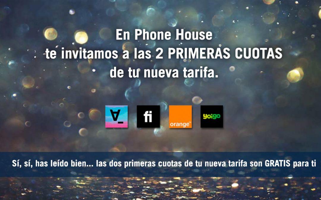Phone House regala dos cuotas de packs de cuatro operadores distintos