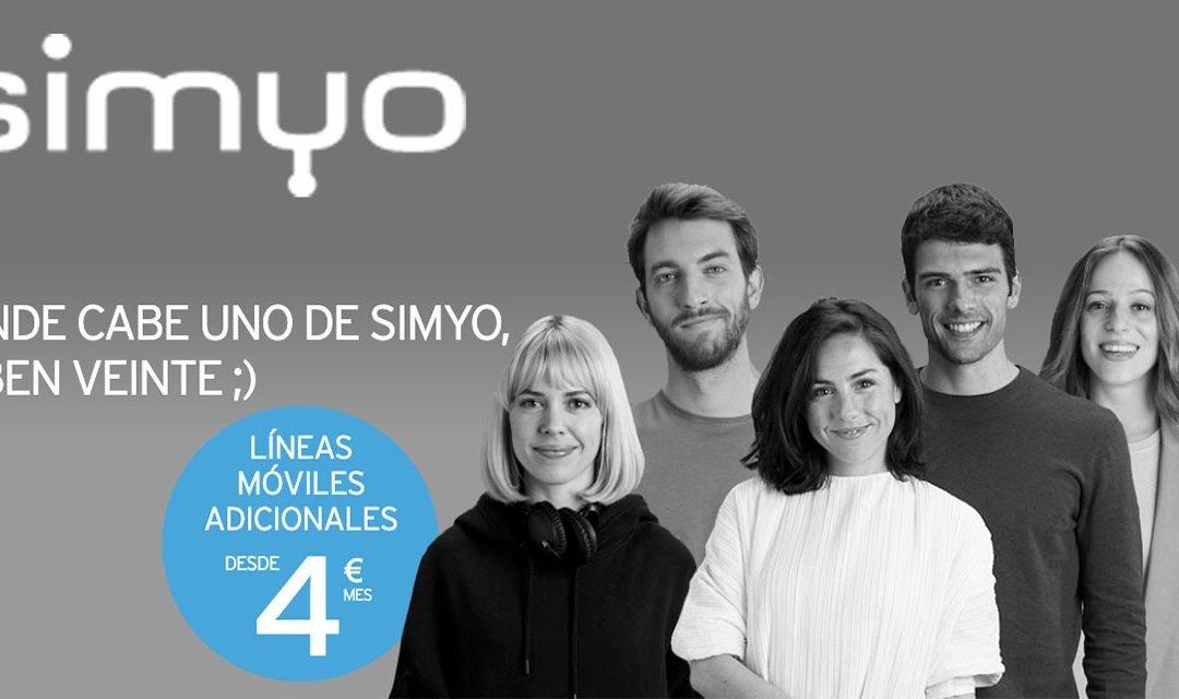 Simyo lanza sus primeras tarifas para líneas móviles adicionales
