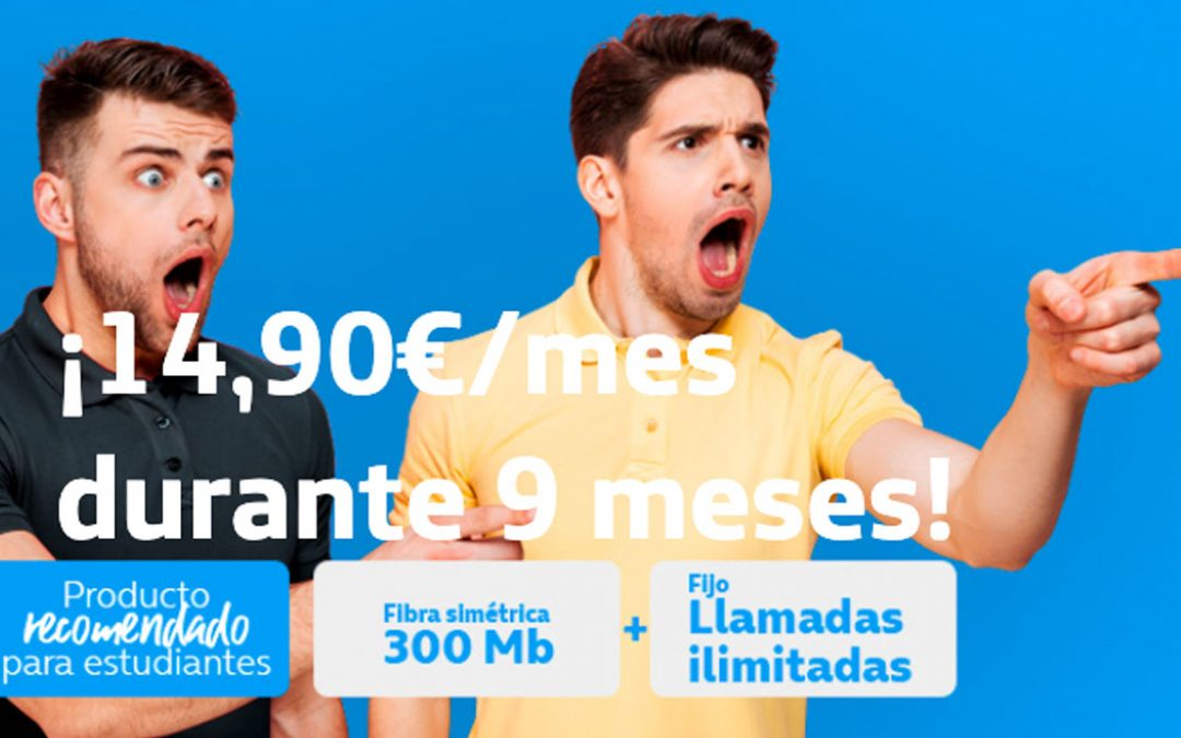 Movistar se lanza a por el low cost: fibra a 300 megas por 14,90 euros al mes