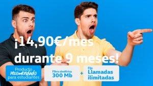 Movistar fibra por 15 euros