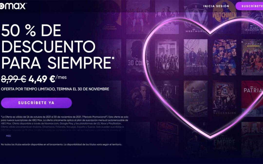 HBO Max se estrena en España con una gran oferta: 50% de descuento para siempre