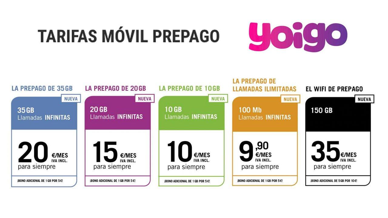 Nuevas prepago Yoigo, octubre 2021