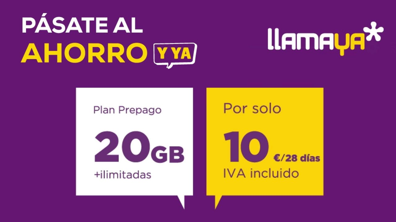 Nuevas tarifas prepago LlamaYa, octubre 2021