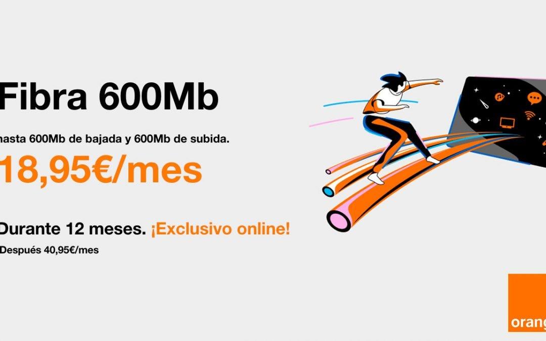 Orange tiene la mejor oferta de solo fibra: 600 megas por 18,95 euros