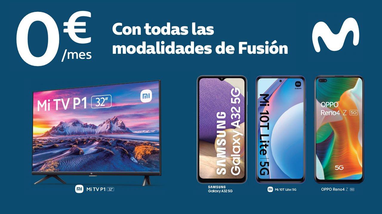 Smartphone 5G smart TV gratis Movistar Fusión