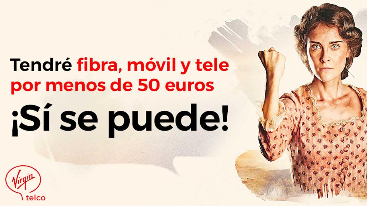 Virgin sube precio fibra 600 megas
